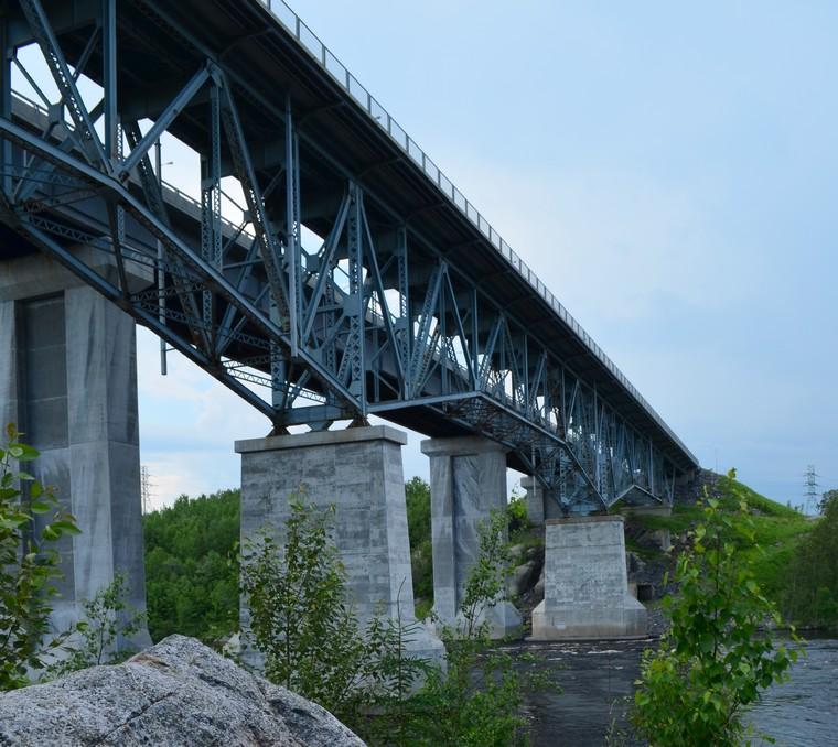 Travaux d'inspections sur le pont Jean-F.-Grenon