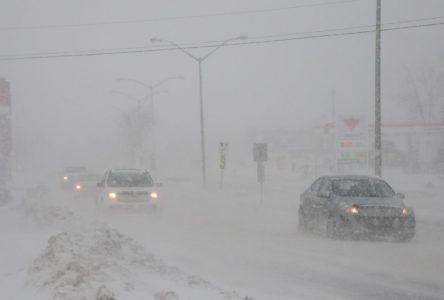 Tempête : Quelques routes fermées au Lac-Saint-Jean