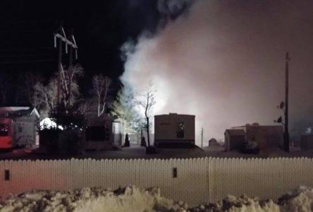 Résidence totalement détruite par le feu, à Métabetchouan