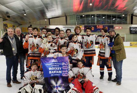Première semaine du tournoi bantam de Saint-Bruno: Les Patriotes et les Lynx champions