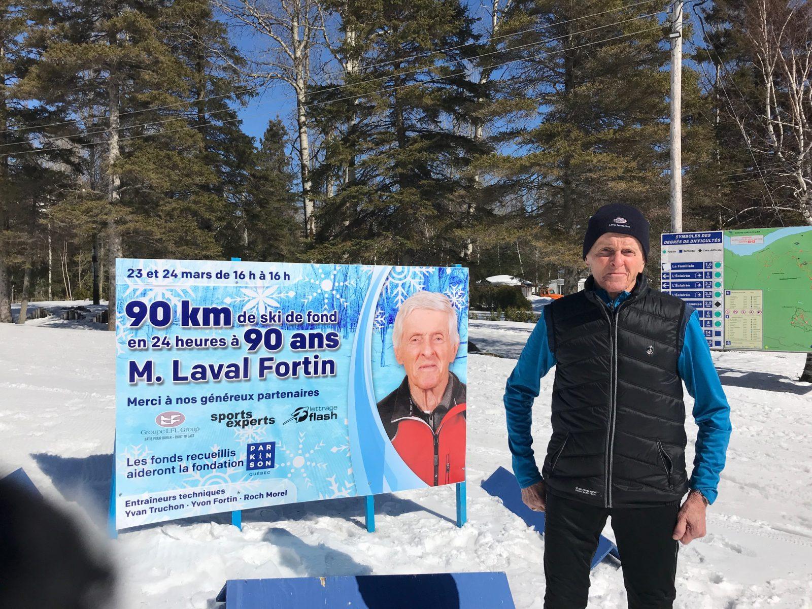 Laval Fortin: 90 km de ski de fond à l'âge de 90 ans