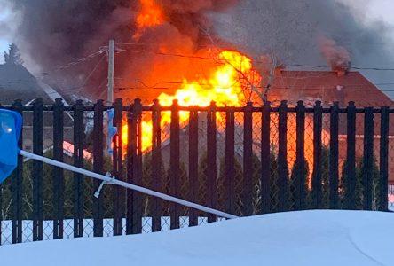 Incendie majeur en cours à Alma