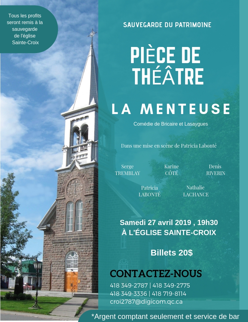 Des activités pour la sauvegarde de l'église Sainte-Croix de Métabetchouan