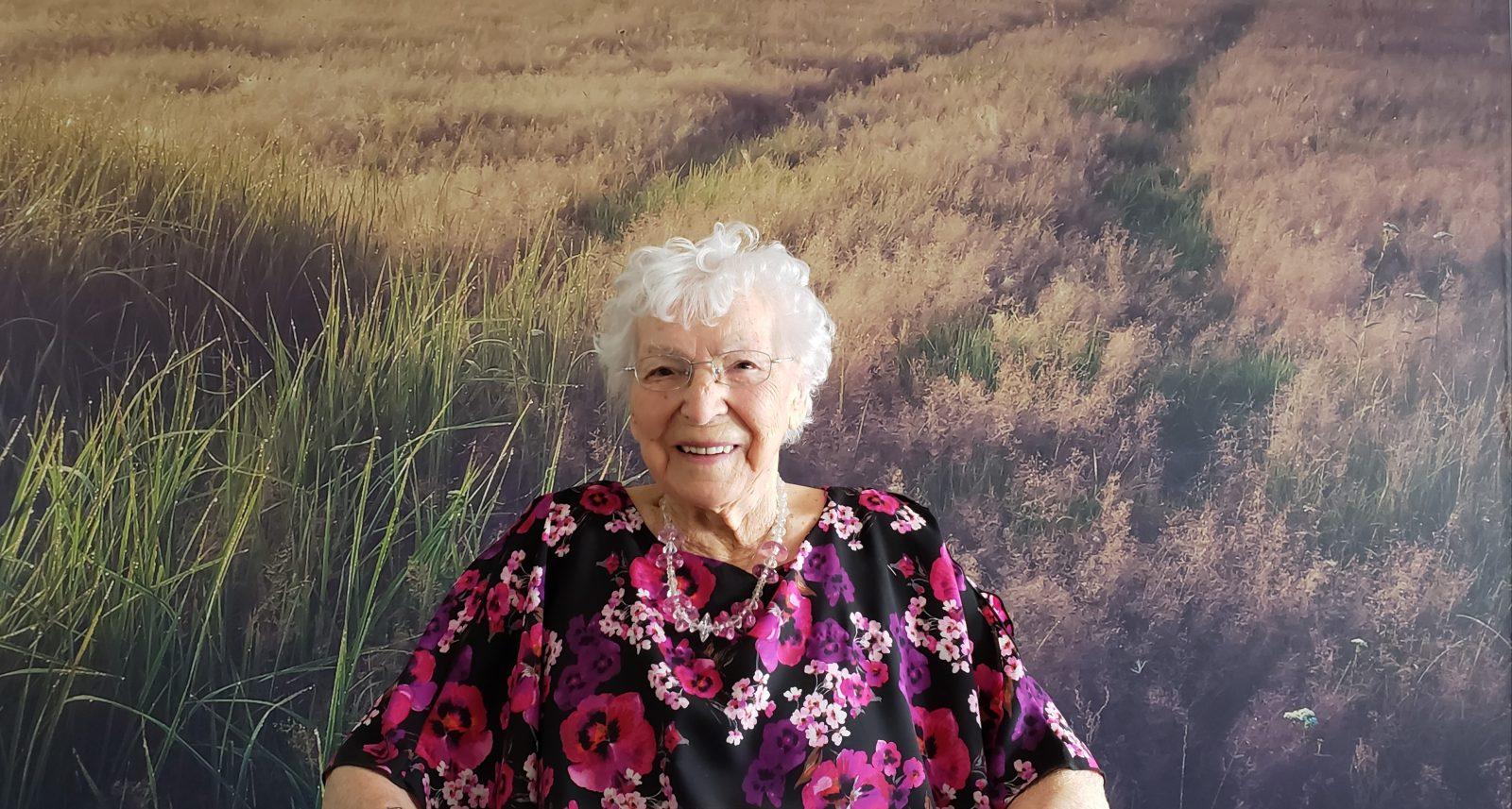101 ans … Et encore  pimpante!