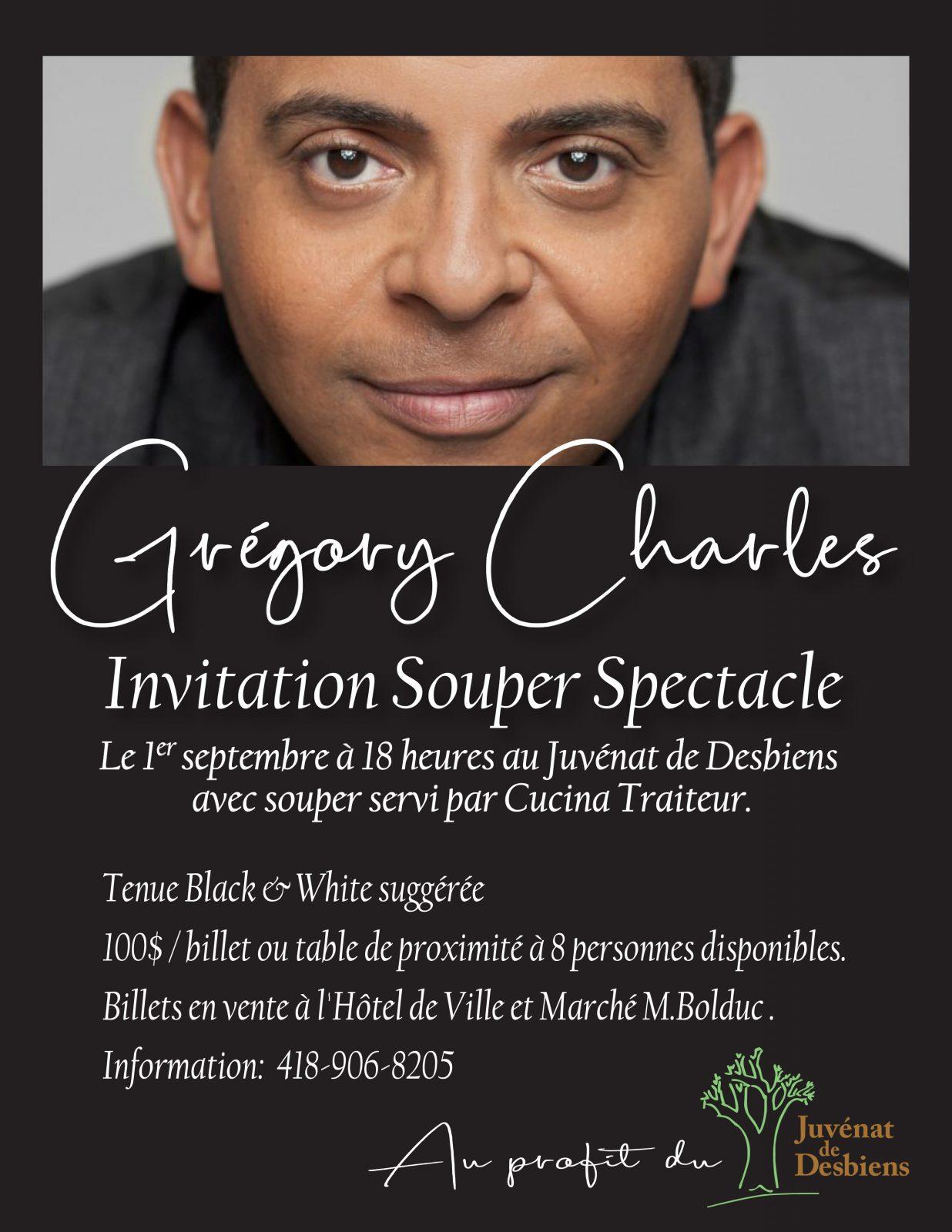Souper-bénéfice : Gregory Charles au Juvénat de Desbiens