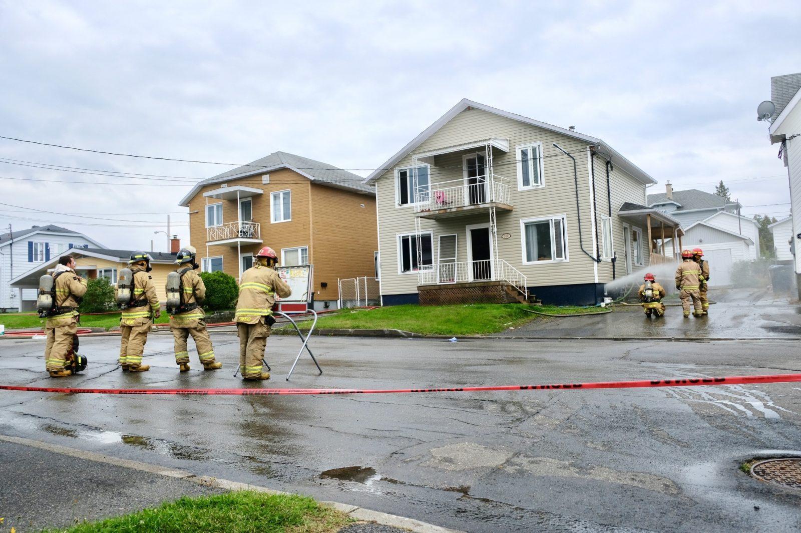 Incendie sur la rue Bergeron