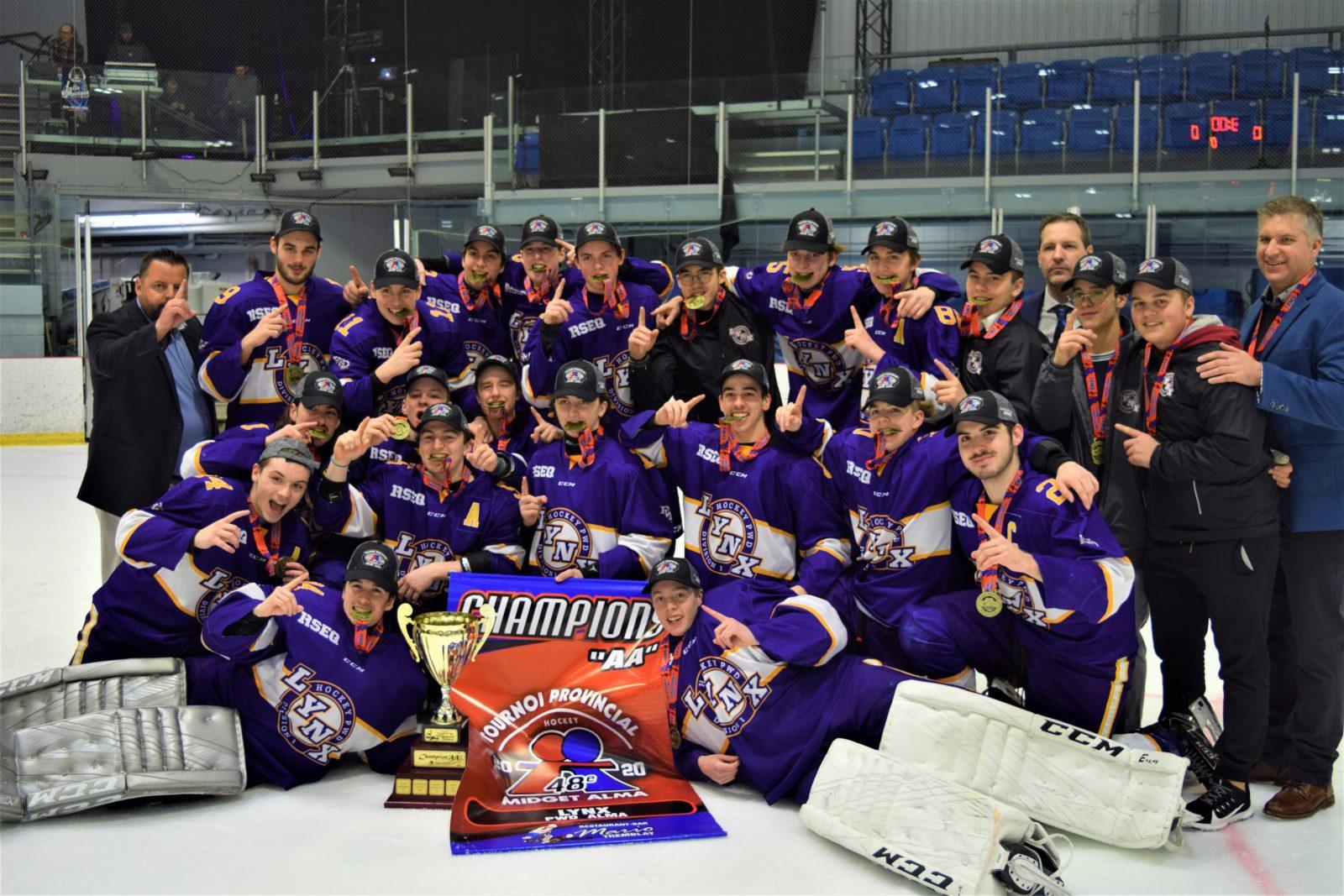 Tournoi Midget d'Alma : Les Lynx et les Aiglons grands champions !