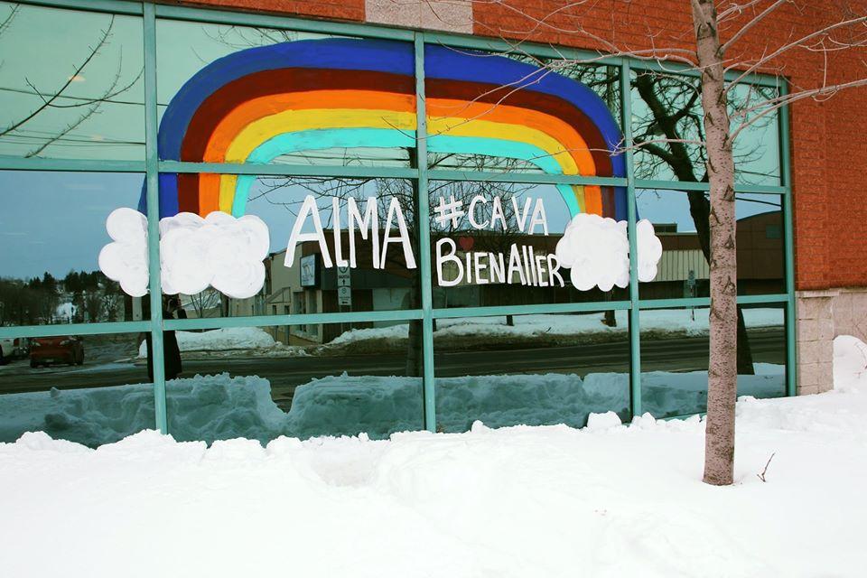 « Alma, ça va bien aller » : Une murale pour garder le moral