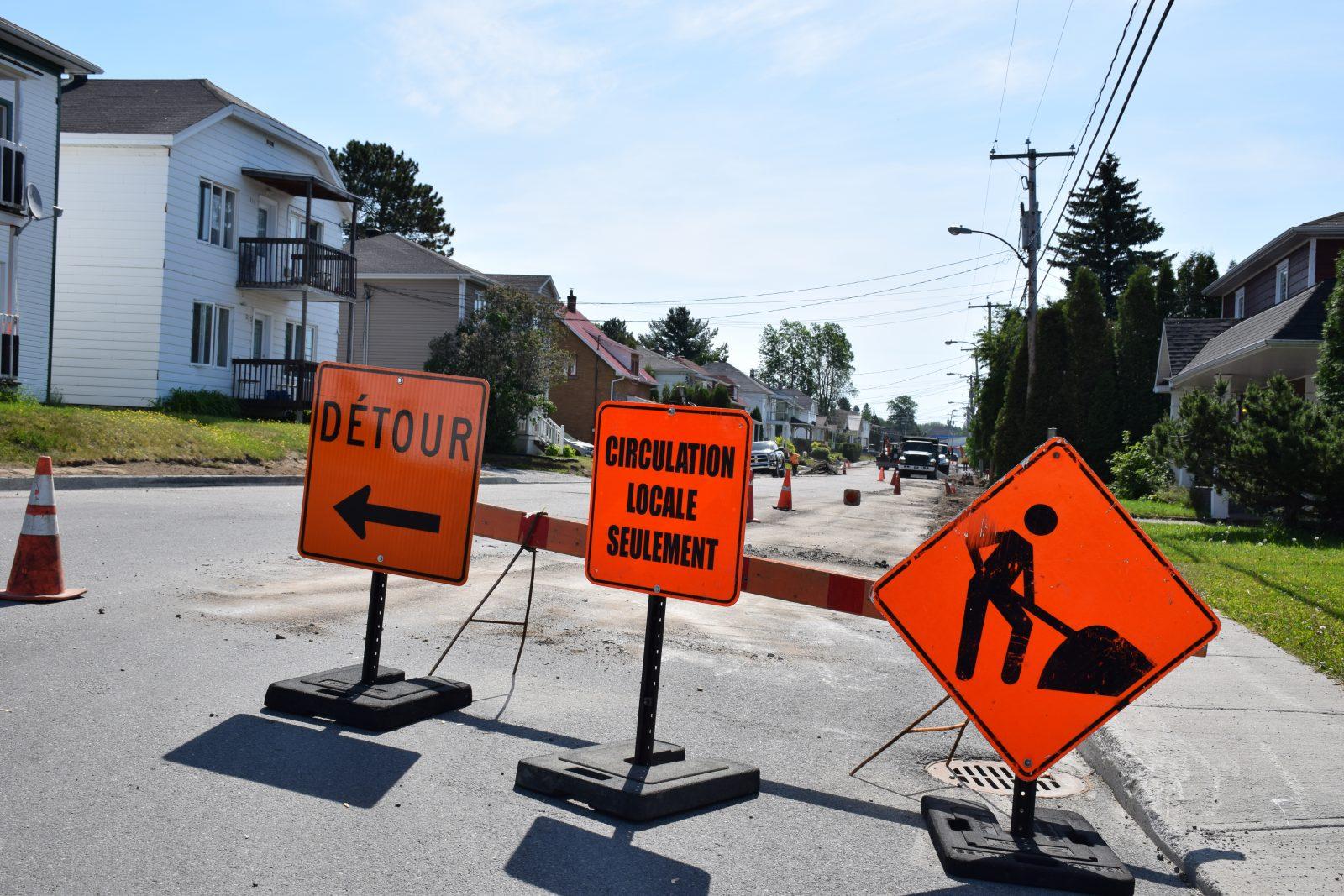 Travaux publics: De nombreux chantiers à Alma cet été