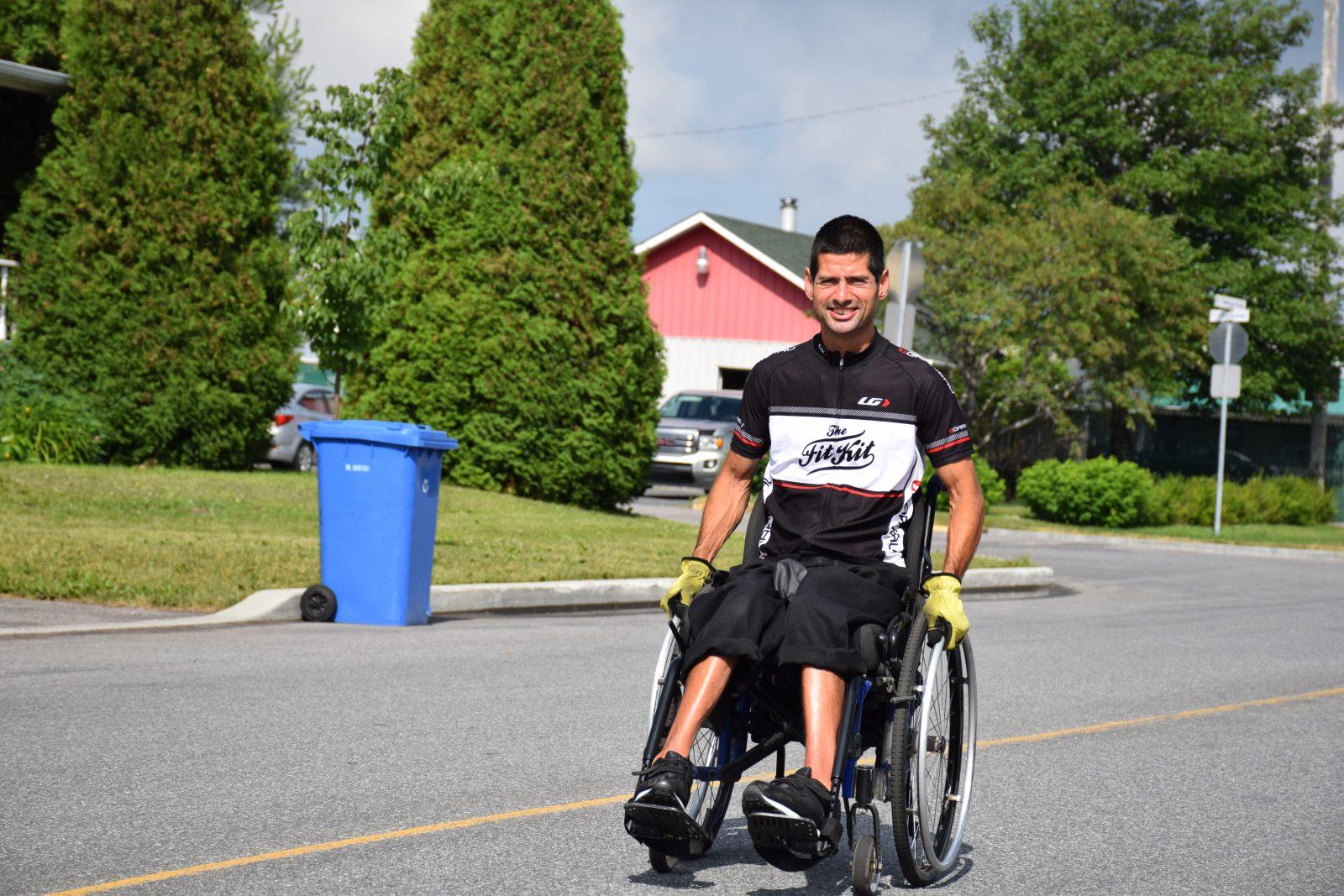 Ataxie de Charlevoix-Saguenay: Un tour du Lac en handbike pour la cause