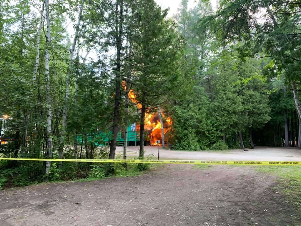 Incendie au Camping Blanchet de Desbiens