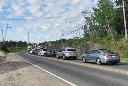 Importants ralentissements près du nouveau carrefour giratoire à Alma