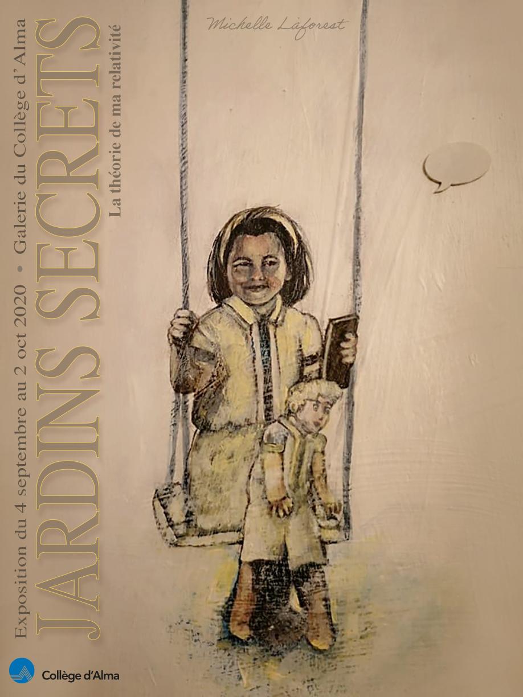 Jardins secrets : une exposition de Michelle Laforest au Collège d'Alma
