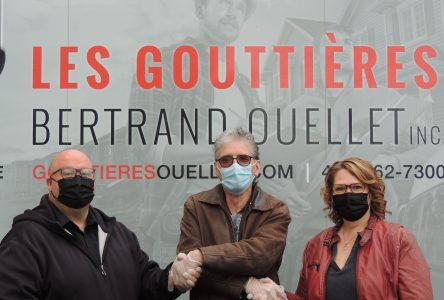 Le hasard permet la continuité des Gouttières Bertrand Ouellet