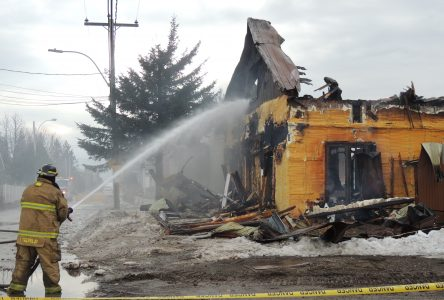 Incendie majeur à Hébertville-Station