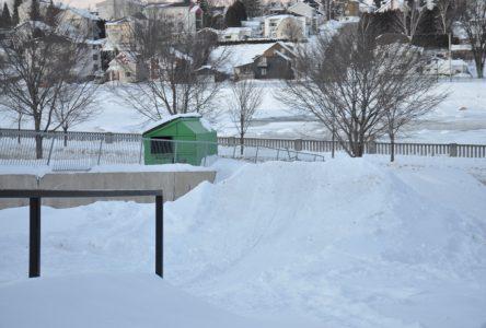 Un « snowpark » en plein coeur du centre-ville