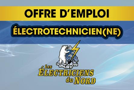 Offre d'emploi – Électriciens du Nord : Électrotechnicien(ne)