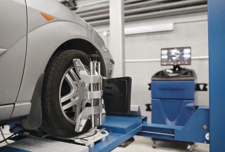 Les outils utilisés pour l'alignement de roues