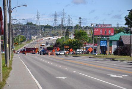 Fuite de gaz sur l'avenue du Pont Nord