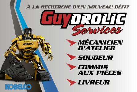 Plusieurs postes disponibles chez Guydrolic Services